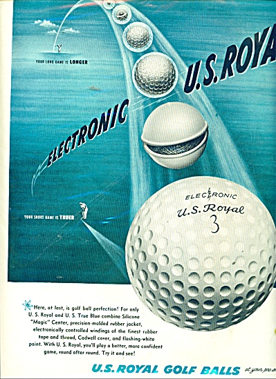 1952 U.S. Royal ELECTRONIC GOLF BALLS AD (Image1)