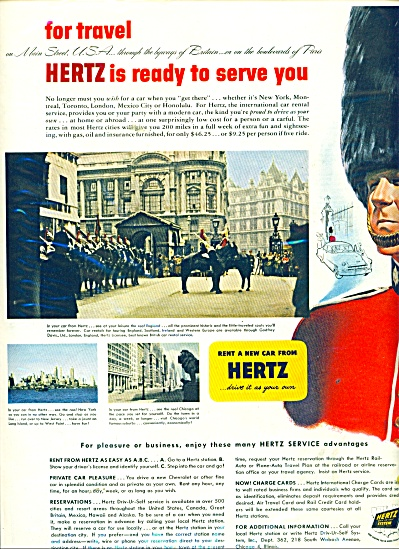 Hertz driv-Ur-self system ad 1952 (Image1)