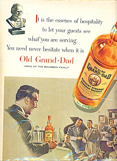 Old Grand Dad Kentucky Bourbon Whiskey Ad