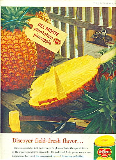 Del Monte Slice Pineapple Ad 1960