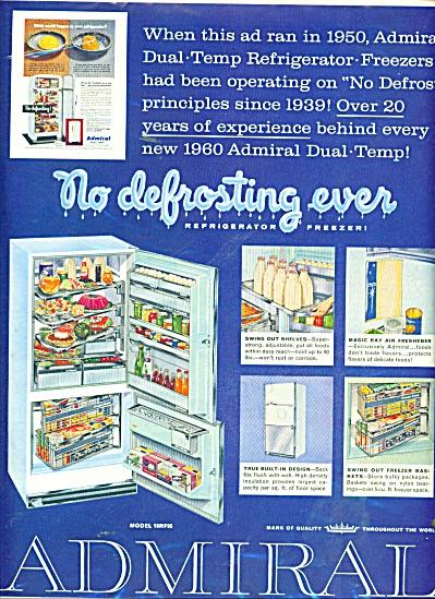 Admiral refrigerator ad 1960 (Image1)