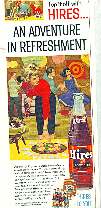 1960 Hires Root Beer AD Party Time (Image1)