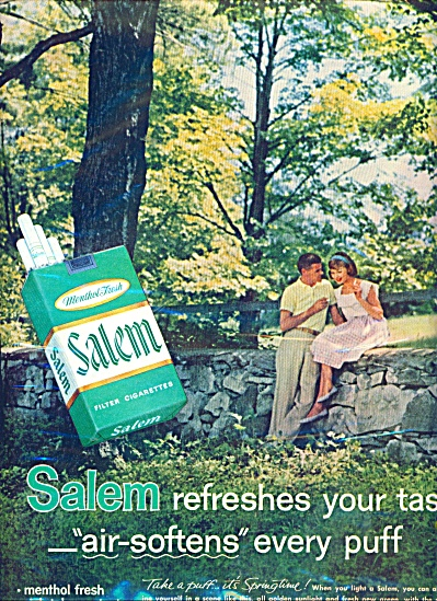 Salem Cigarettes 1961
