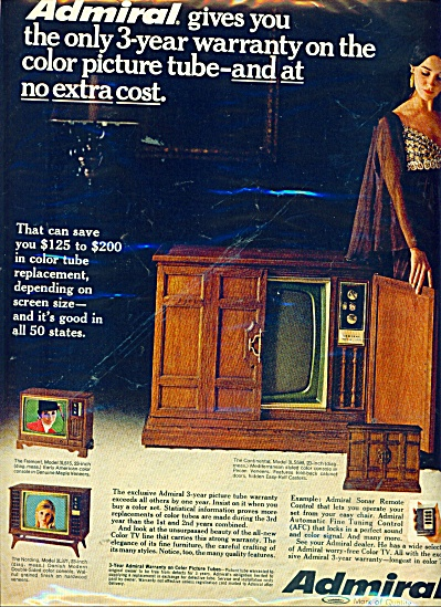 Admiral Television Ad 1969