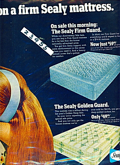 Sealy Golden guard mattress ad (Image1)