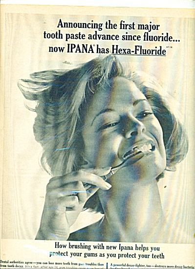 1962 Ipana tooth paste AD Beautiful Blonde (Image1)