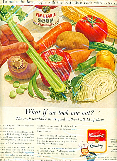 Campbell's Qualaity Soups Ad 1962