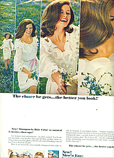 1967 Clairol Shampoo AD THE CLOSER HE GETS .. (Image1)