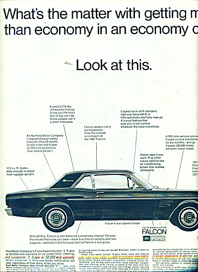 Ford Falcon automobile ad 1967 (Image1)