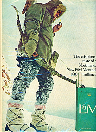 1967 L & M Cigarettes AD Bow Hunting in SNOW (Image1)