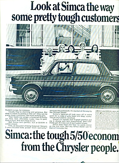 Simca automobile  ad 1967 (Image1)
