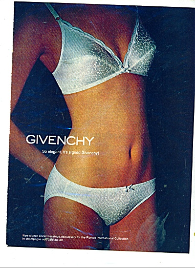 1980 Givenchy Bra - Underwear Woman Ad