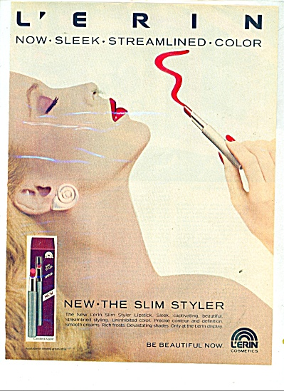 1980 L'erin Cosmetics Ad - Uninhibied Color M