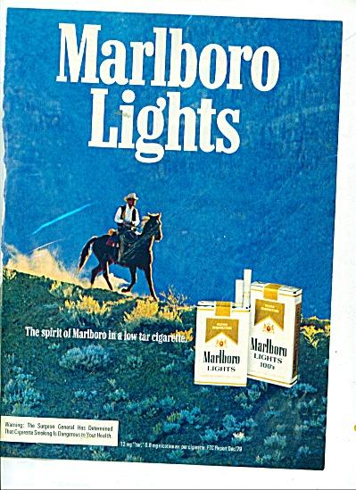 Marlboro lights cigarettes ad 1980 (Image1)
