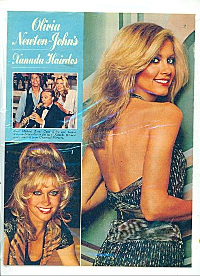 1980 OLIVIA NEWTON JOHN Xanadu HAIRDO AD 2pg (Image1)
