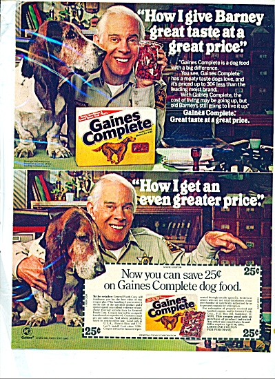 Gaines dog food.  ad 1980 (Image1)