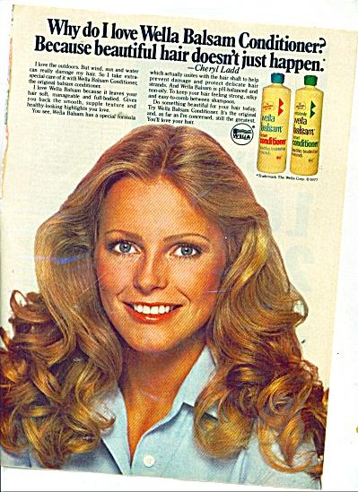 1978 Wella Balsam AD  - CHERYL LADD (Image1)