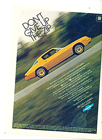 Chevrolet Camaro for 1981 ad (Image1)