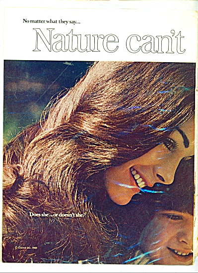 1970 Miss Clairol Brunette Hair Color 2pg AD (Image1)