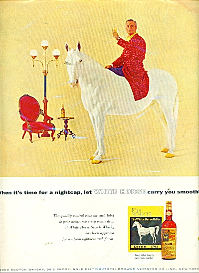 White Horse Blended Scotch Whisky Ad 1957
