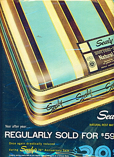 Sealy natural rst mattress ad 1957 (Image1)