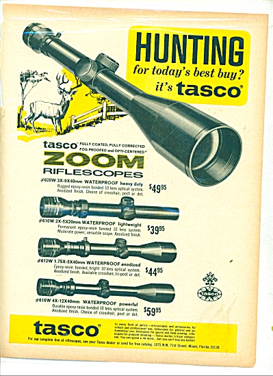 Tasco RIFLE riflescopes ad 1969 (Image1)