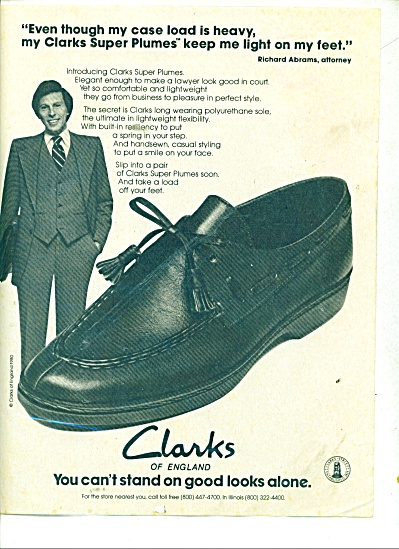Clark's shoes of England ad (Image1)