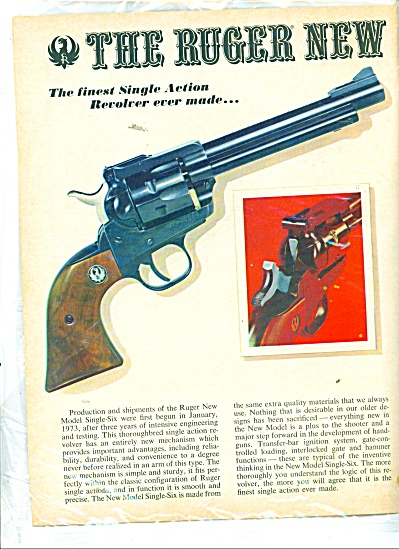 The Ruger new model single- six ad 1973 (Image1)