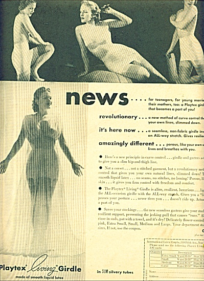 1947 Playtex living girdle ad GREATEST PICS (Image1)