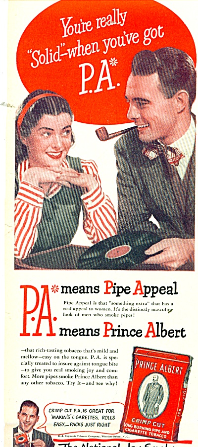 Prince Albert Pipe Tobacco Ad 1947