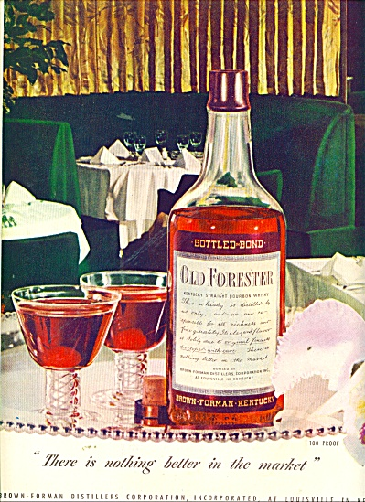 1947 Old Forester Kentucky whisky ad (Image1)