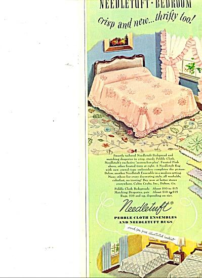 Needletuft cloth ensembles & rugs ad 1949 (Image1)