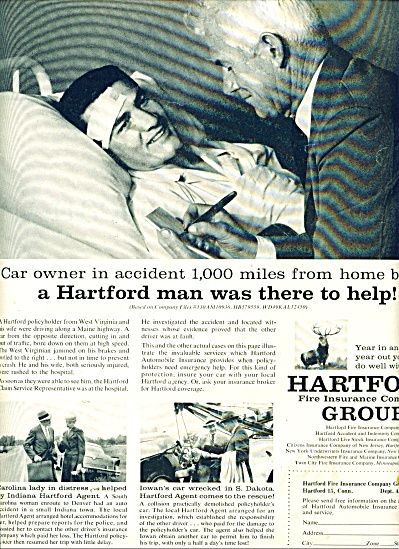 1957 Hartford fire insurance company group ad (Image1)