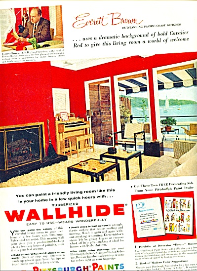 Pittsburgh Paints ad 1957 WALL HIDE (Image1)