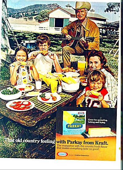 Parkay Margarine ad  BUDDY EBSEN and Family (Image1)