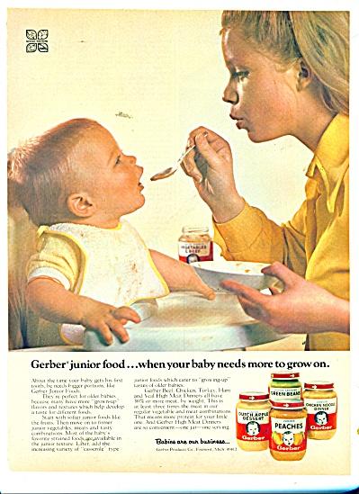Gerbers baby foods ad 1973 (Image1)