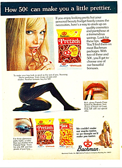 1973 Bachman Foods Ad - We Make You Tastier