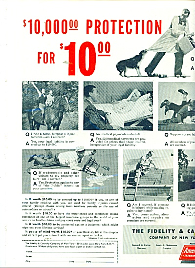 America Fore Insurance AD  1947 Ask Those Questions (Image1)