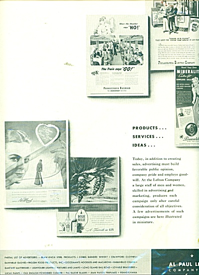1947 Al Paul Lefton Co ADVERTISERS AD Publici (Image1)