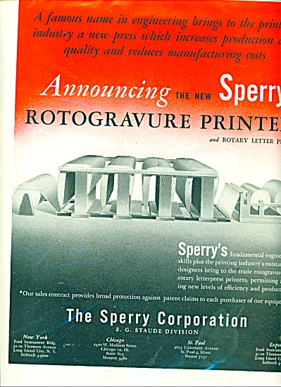The Sperry corporation ad 1947 Rotogravure (Image1)