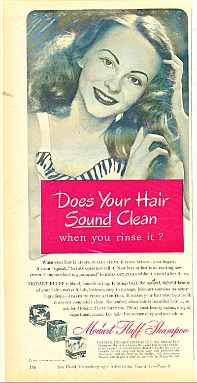 1946 Modart Fluff Shampoo ad 1946 (Image1)