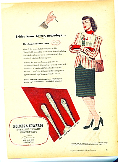 1946 Holmes & Edwards Sterling Silver Ad