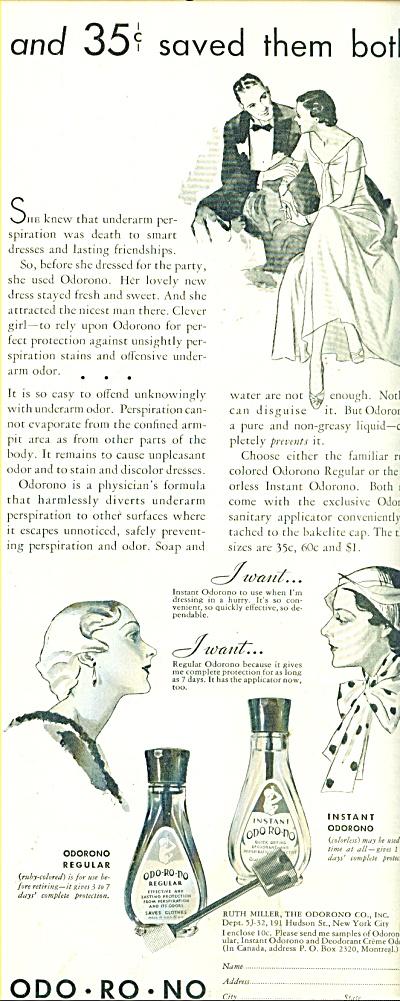 Odo-ro-no perspirant remover ad 1932 (Image1)