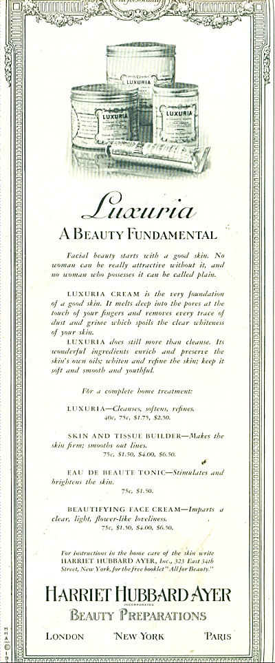 Harriet Hubbard-ayer beauty preparations ad (Image1)