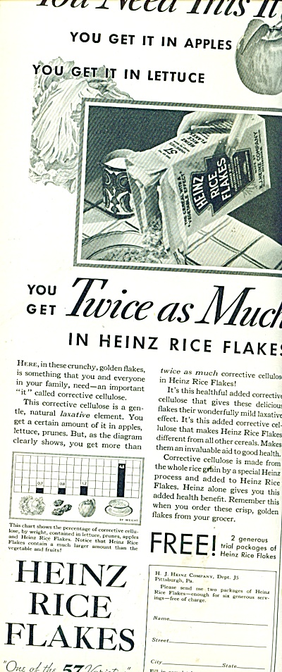 1932 Heinz Rice Flakes ad Cereal (Image1)
