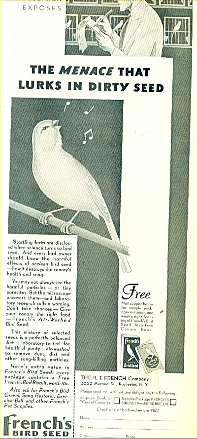 French's Bird seed ad 1932 (Image1)