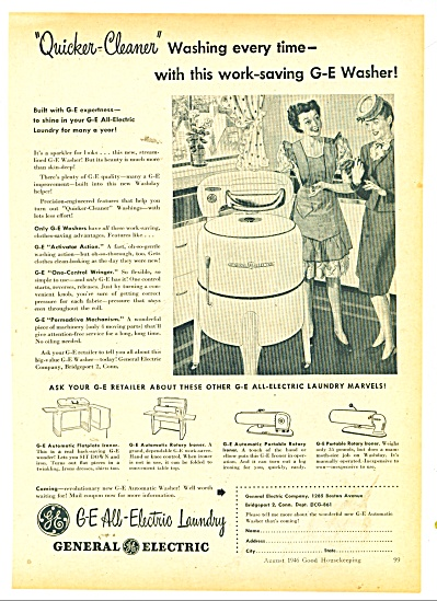 General electric washer ad 1946 (Image1)