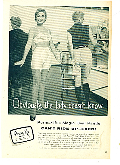 1956 Perrma Lift Magic Oval Pantie Ad Bra