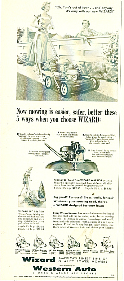 Wizard Lawn Mower Ad