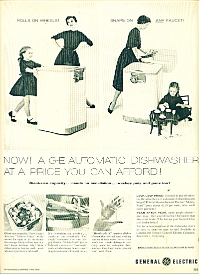 General Electric dishwasher ad 1956 (Image1)